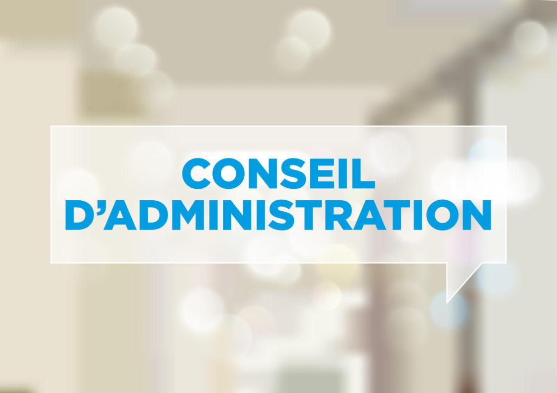 Nouveau Conseil d'Administration – avril 2018