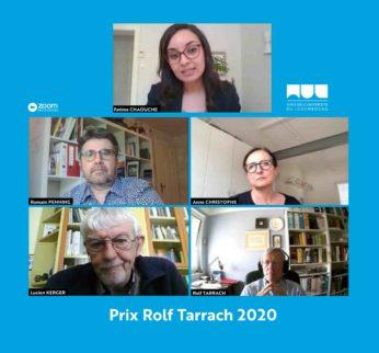 Nomination du Prix Rolf Tarrach 2020
